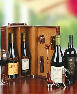 Double Wine Tote with Wine & Accessories